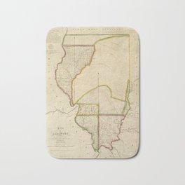 Map of Illinois 1818 Bath Mat