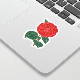 Red Dahlia Sticker