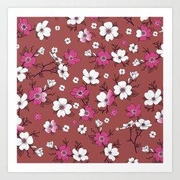 Lovable Flowers 4 Art Print