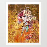rose gold Art Prints featuring Rose. Gold by Steve W Schwartz Art