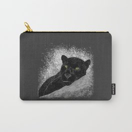 Black panther on a branch - Grey Carry-All Pouch