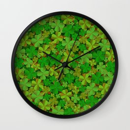 Lucky Clovers Wall Clock