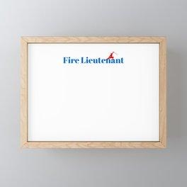 Fire Lieutenant Ninja in Action Framed Mini Art Print