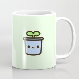 Cute sprout in pot Coffee Mug
