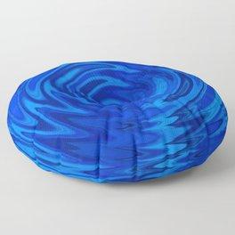 Water Moon Cobalt Swirl Floor Pillow