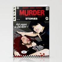 dramatical murder Stationery Cards featuring MURDER STORIES by Thomas B.- Rock Artwork