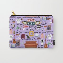 Friends Collage, purple Carry-All Pouch