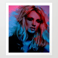britney spears Art Prints featuring Britney Spears by Nic Moore