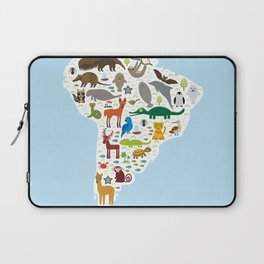 South America sloth anteater toucan lama bat fur seal armadillo boa manatee monkey dolphin Laptop Sleeve