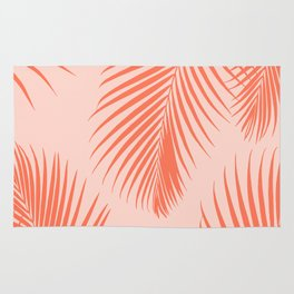 Coral Palms ~ Summer Tropical Pattern Rug