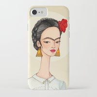frida iPhone & iPod Cases featuring Frida by Renia