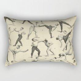 Antique Boxing Rectangular Pillow
