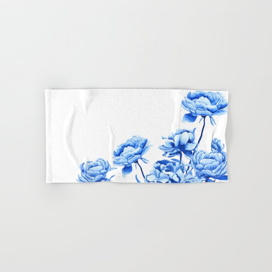 blue peonies 2 Hand & Bath Towel