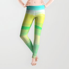 Abstract Colorful Watercolor Stripes Pattern Leggings