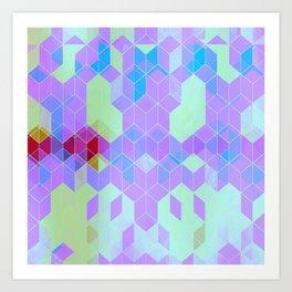 Purple Groove Art Print