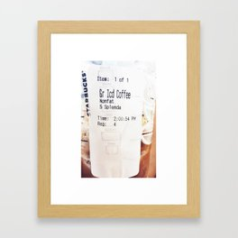not even coffee could wake me up like you do Framed Art Print