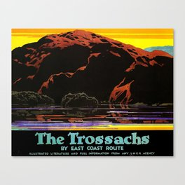 The Trossachs Travel Poster Canvas Print