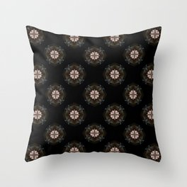 Beige Cross Flower Pattern Throw Pillow
