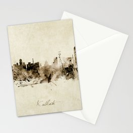 Kolkata India Skyline Stationery Cards