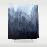 posters Shower Curtains featuring Mists No. 3 by Prelude Posters