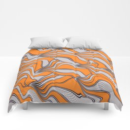 foolish movements swirl orange Comforters