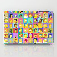simpsons iPad Cases featuring Simpsons by thev clothing