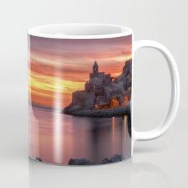 Spectacular sunset in Portovenere Coffee Mug