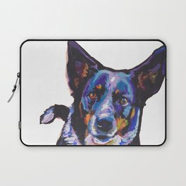 Australian Cattle Dog Portrait blue heeler colorful Pop Art Painting by LEA Laptop Sleeve