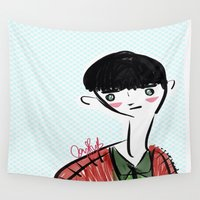 kpop Wall Tapestries featuring nef the fifth by naufba