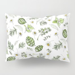 Scattered Garden Herbs Pillow Sham
