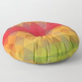 Colorful Geometric Shapes Pattern Floor Pillow