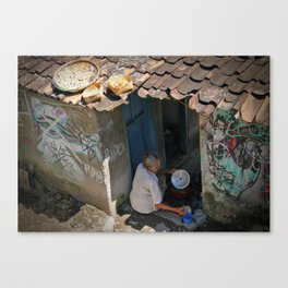 Dishes. Yogyakarta, Java, Indonesia. Canvas Print