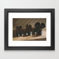 Bean Boots Framed Art Print