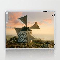 A rustic windmill in the Minho, north Portugal Laptop & iPad Skin