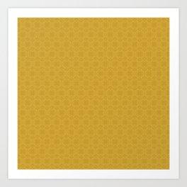 Yellow Gold Très Petit Geometric Pattern Art Print