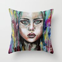 waterfall Throw Pillows featuring Waterfall  by Bella Harris