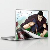 berserk Laptop & iPad Skins featuring Guts - Berserk Fan Art by River Kai