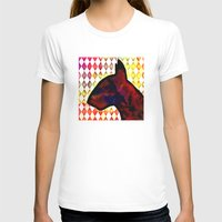 bull terrier T-shirts featuring Bull Terrier Jester by Erin Conover