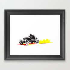 Classic Race Car Number 63 Framed Art Print
