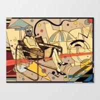 kandinsky Canvas Prints featuring Bauhaus Kandinsky Mash Up by Sam Parr