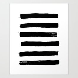 black paint stripes Art Print