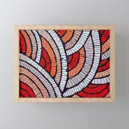 Mosaic fans Terrazzo Blobs Framed Mini Art Print