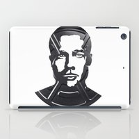 brad pitt iPad Cases featuring Brad Pitt by Alejandro de Antonio Fernández