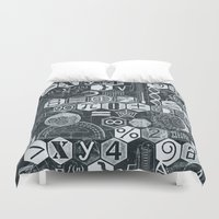 blankets Duvet Covers featuring Math Class by Chicca Besso