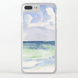 Ocean, Tulum, Mexico Clear iPhone Case