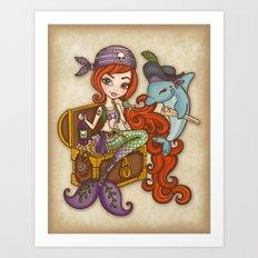 Dolphin's Treasure Art Print