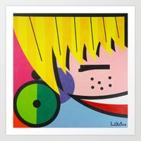 Little Blondie - Paint Art Print