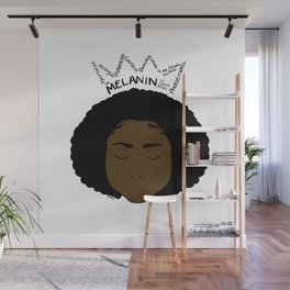 Melanin Crown - Girl 2 - Digital Illustration - Afro Wall Mural