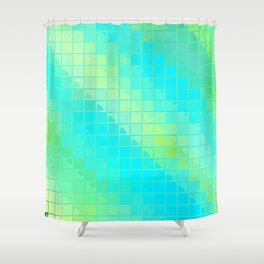 Re-Created Fired Clay 4 by Robert S. Lee Shower Curtain