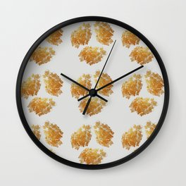 Gold Daubs On Light Grey Wall Clock